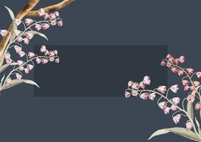 Diseño floral del marco