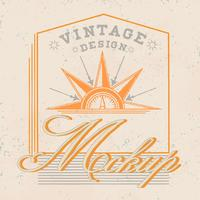 Vetor de design de logotipo vintage maquete