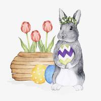 Ilustração, de, páscoa, festival