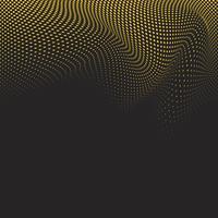 Vecteur de fond de demi-teinte ondulée jaune et noir