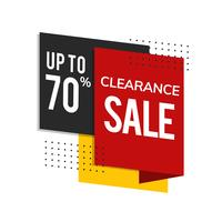 Clearance sale up to 70% shop promotion advertisement vector