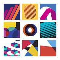 Set d'illustrations graphiques multicolores suisses