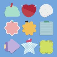 Conjunto de vetores de lembretes coloridos