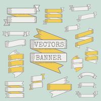 Blank banner ribbons