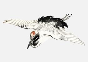Vliegende boerenzwaluw door K? No Bairei (1844-1895). Digitaal verbeterd vanuit onze eigen originele uitgave uit 1913 van Bairei Gakan.