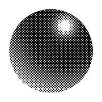 Svart halvton emblem på vit bakgrund vektor