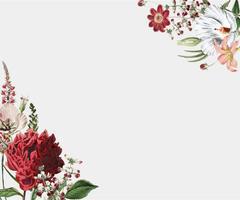 Blumenrahmendesign