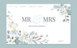 Design del sito Web invito matrimonio floreale