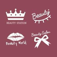 Set av skönhetssalong ikon vektorer