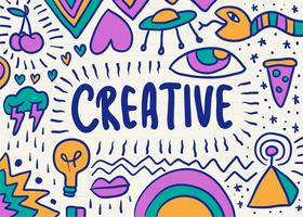 Creative and colorful scribble graphic vector