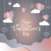 Ilustración de tarjeta de San Valentín