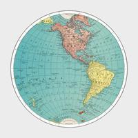 Västra hemisfären, världsatlasen av Rand, McNally och Co. (1908) Digital förbättrad av rawpixel.