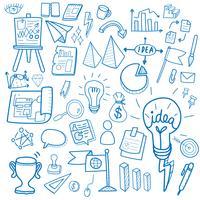 Ilustración de la colección de negocios de inicio doodle