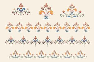 Vintage Flourish Ornament Abbildung