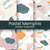 Pastell Memphis mönster design vektor