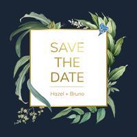 Design floreale invito a nozze