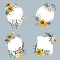 Badges met bloemmotief