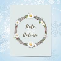 Flora-Hochzeitseinladungskarten-Modellvektor