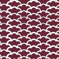 Seamless Japanese pattern with wave motif vector