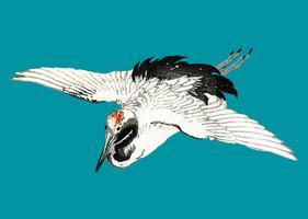 Flying Barn Swallow por K? No Bairei (1844-1895). Mejorado digitalmente desde nuestra propia edición original de 1913 Bairei Gakan.
