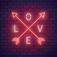 Neon valentine's day illustration