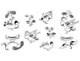 Weinlese-Illustration der japanischen Verzierung