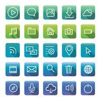 Conjunto de iconos y símbolos