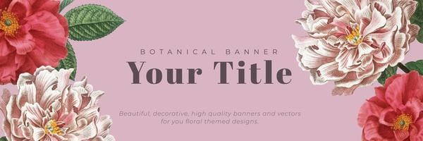 Floral framed banner
