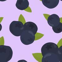 Colorful hand drawn blueberry pattern