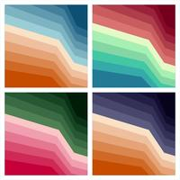 Set of colorful abstract print backgrounds