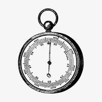 Aneroid barometer vintage stil