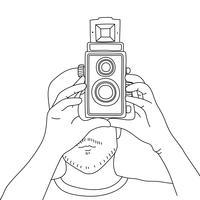 Vector de cámara de película analógica.