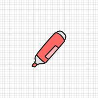 Vector de papelería estilo doodle