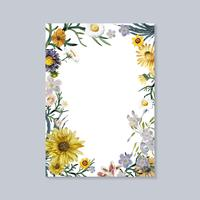 Blooming greeting card