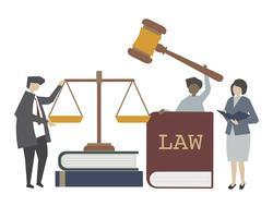 Lag och rättvisa koncept illustration