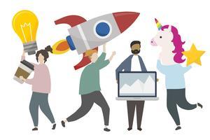 Ilustração de conceito de ideia de inovação empresarial