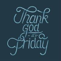 Godzijdank is het vrijdag typografie ontwerp illustratie
