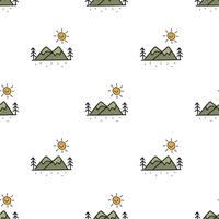Illustration drawing style of camping icons background