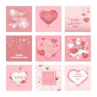 Raccolta dell'illustrazione dell'icona di San Valentino