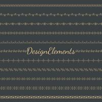 Collection of divider design element vectors