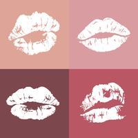 Pinup style lip print