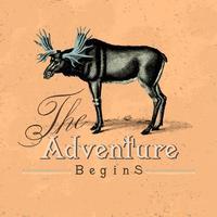 L'avventura inizia il logo design vettoriale