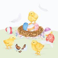 Illustration av påskfestival