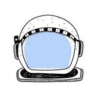 Doodle de capacete de mergulho