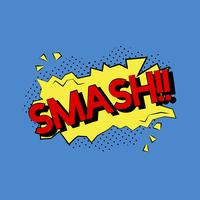Comic style illustration of the word smash
