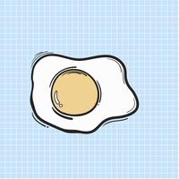 Illustration fried egg isolated on background