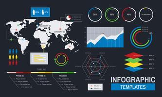 Vektor des infographic Schablonendesigns