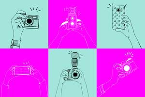 Ta foton ritning vektor