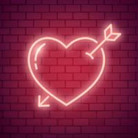 Neon love illustration