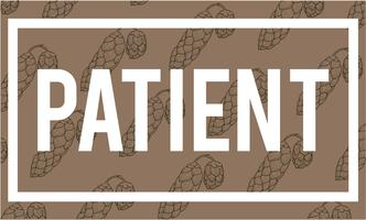 Illustration of patient word on brown background